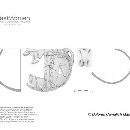 Dibujo de vasija de cerámica a mano