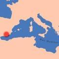 Mapa de localización de la zona de estudio. Cultura Argárica.