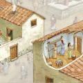 Casa griega. Ilustración: Francesc Ràfols