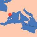 Mapa de localización de la zona de estudio. Neolítico Pleno.