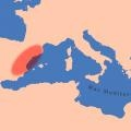 Mapa de localización de la zona de estudio. Paleolítico Superior.