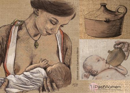 Lactancia. Ilustrado por Esperanza Martín