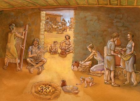Cultura argárica. Ilustración: Miguel Salvatierra
