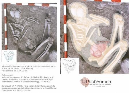 Inhumación de una mujer argárica fallecida durante el parto. Foto cortesía de M. M. Ayala.jpg