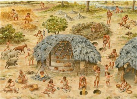 Neolítico Pleno  del NE de la Península Ibérica - Ilustración: Francesc Ràfols
