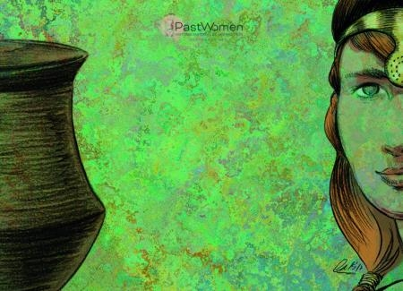 Ajuar femenino de la tumba de la Almoloya, Murcia. Ilustración de Esperanza Martín e Iñaki Diéguez.jpg