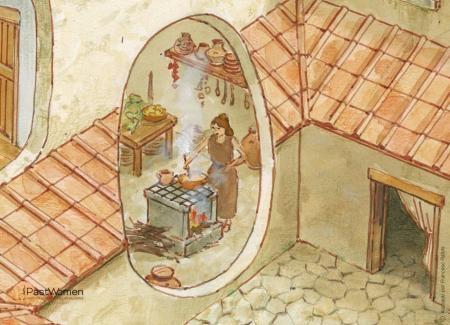 Mujer cocinando en el hogar. Ilustración: Francesc Ràfolsg